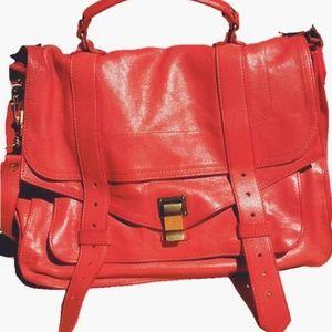 Proenza Schouler PS1 Medium Satchel Bag, Coral